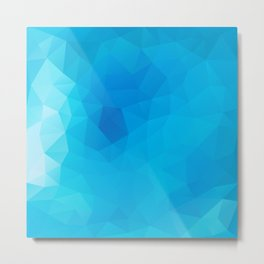 """Out of the blue"" geometric design Metal Print"