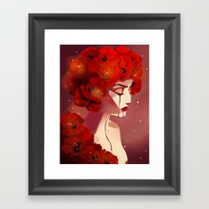 Red Poppy Girl Alternate Framed Art Print