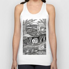 Two Worlds Unisex Tank Top