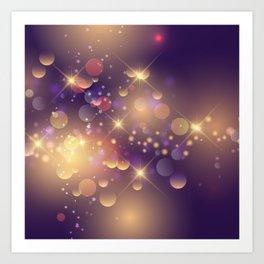 Festive Sparkles in Purple Art Print