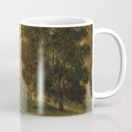 George Loring Brown - Old bridge over the old Lowell Canal at Medford, Massachusetts Coffee Mug