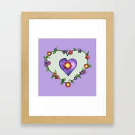 Heartily Floral Framed Art Print