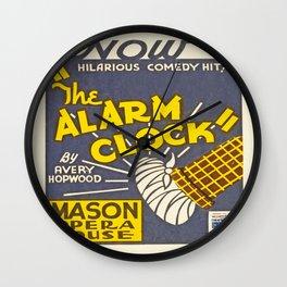 Vintage poster - The Alarm Clock Wall Clock