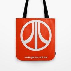 Make Games, Not War Tote Bag