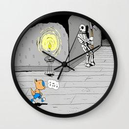 """Quixote Coyote """"Haunted"""" Wall Clock"""