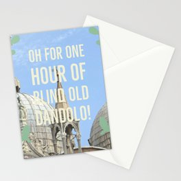 Blind old Dandolo (light) Stationery Cards