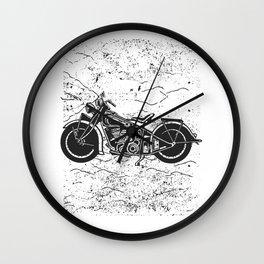 Custom Motorcycle Native American Wall Clock