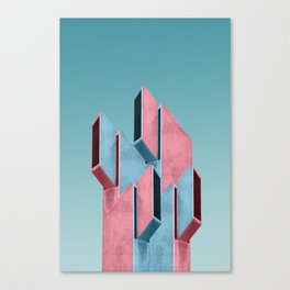 Acid pink Canvas Print