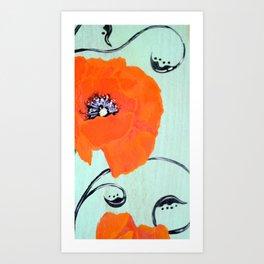 Poppy chic Art Print