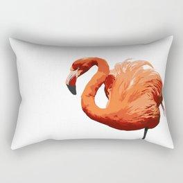 Mean Flamingo Rectangular Pillow