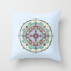 Time and Light Native Shapes Mandala Throw Pillow