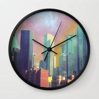 dallas Wall Clocks featuring Dallas Ya'll by Lynsey Ledray