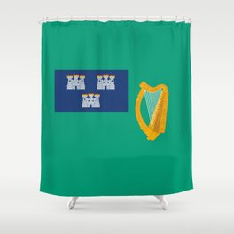 Flag of Dublin Shower Curtain