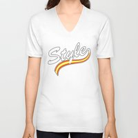 sport V-neck T-shirts featuring Sport Style by Styleuniversal