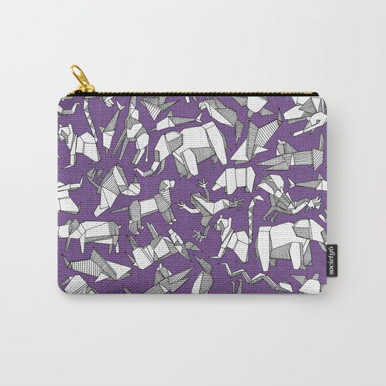 origami animal ditsy purple by sharonturner