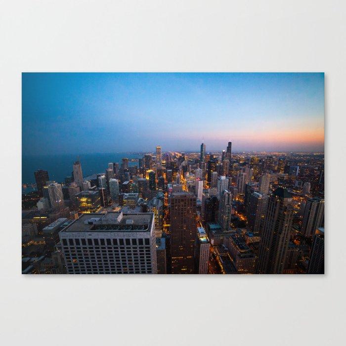 Chicago Skyline - Dusk Canvas Print