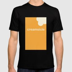 Creamsicle (First Bite) MEDIUM Black Mens Fitted Tee