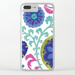 Watercolor Suzani Pattern Clear iPhone Case