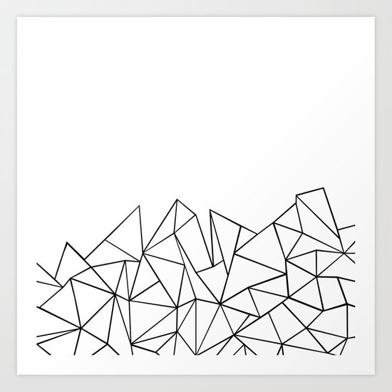 Ab Peaks White Art Print