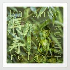 Buddha Bamboo 2 Art Print