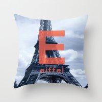eiffel Throw Pillows featuring Eiffel by Haiku On the Move