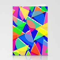 80s Stationery Cards featuring 80s shapes by Sarah Bagshaw