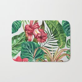 Tropica #pattern #illustration #tropical Bath Mat