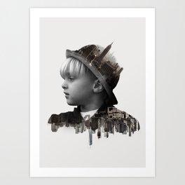 City Kid - Double Exposure Poster Art Print