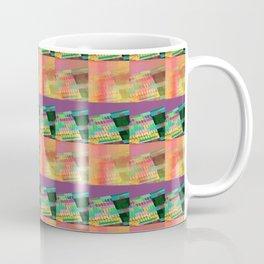 Purple Peach Plaid Coffee Mug