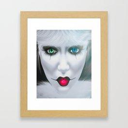 Harlequin Eyes Of A Different Color Framed Art Print