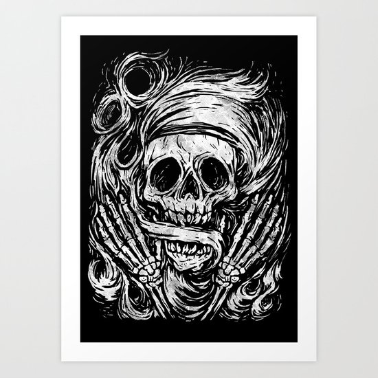flowing ashes Art Print