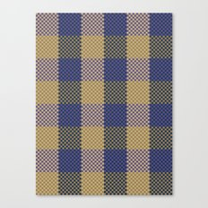 Pixel Plaid - Spring Thaw Canvas Print