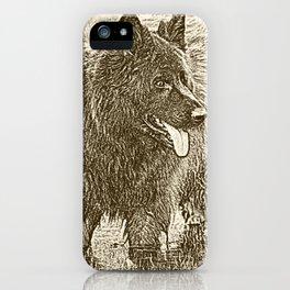 German Shepherd Dog Standing in Water 2 iPhone Case