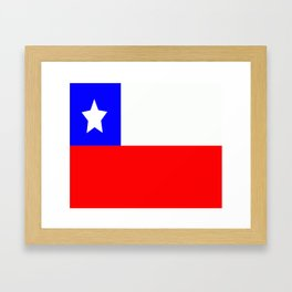 Flag of Chile Framed Art Print