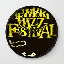 1960 Newport Jazz Festival Vintage Advertisement Poster Newport, Rhode Island Wall Clock