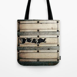Industrial Numbers Tote Bag