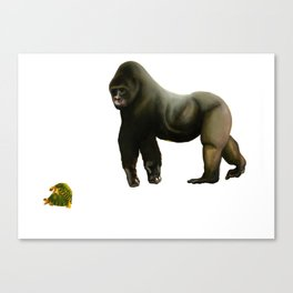 Gorilla & Turtles Canvas Print