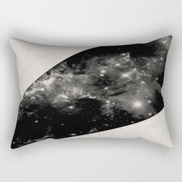 Expanding Universe - Abstract, black and white space themed design Rectangular Pillow