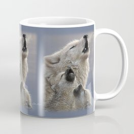 Wolf Pups Howling - Singing Lesson Coffee Mug