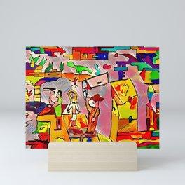 Sally and the explorers Mini Art Print