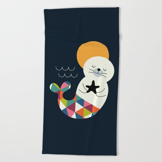 Seals Mermaid Beach Towel