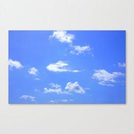 blue summer sky Canvas Print