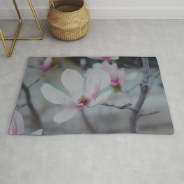 White Magnolia Photo Rug