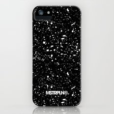 Retro Speckle Print - Black Slim Case iPhone SE