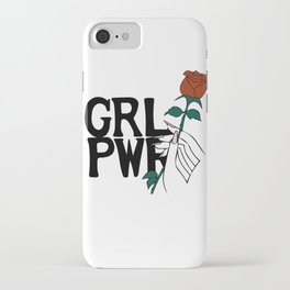 GRL PWR Rose iPhone Case