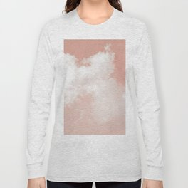 Floating Cotton candy in blush pink Long Sleeve T-shirt