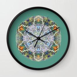 Vintage Kalidescope Floral Mandala Color Therapy Meditation Print Wall Clock