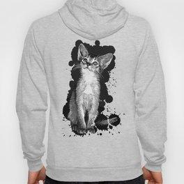 abyssinian cat kitten vector art black Hoody