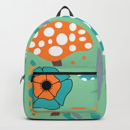Playful mushroom and flowers Backpack