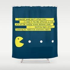 Computer Games Don't Affect Kids Shower Curtain